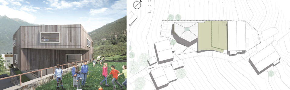 Concorso di progettazione a procedura aperta in due gradi per la costruzione di una scuola elementare con palestra piccola a Oris – Comune di Lasa