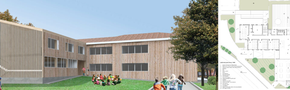 Concorso di idee: ampliamento dell'edificio della Scuola primaria di via Dante Alighieri e messa in sicurezza dei percorsi di accesso al plesso scolastico